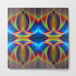 Play of lines, abstract fractal pattern Metal Print