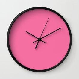 Cyclamen - solid color Wall Clock