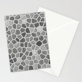 Faux Mosaic in light grays Stationery Cards