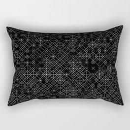 Black and White Overlap 1 Rectangular Pillow