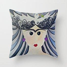Peaceful Frida Throw Pillow