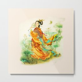 Chines Princess Metal Print
