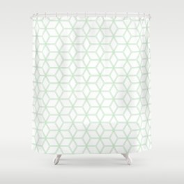 Hive Mind Mint Green #216 Shower Curtain