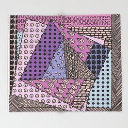 simple purple doodles . picture . art Throw Blanket