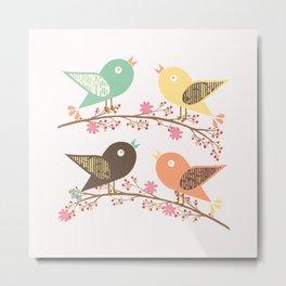 Four birds Metal Print