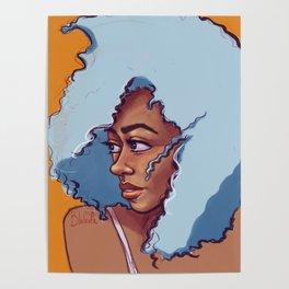 Blue Haired Bombshell Poster