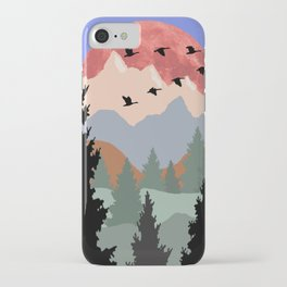 Mountain Geese Scene iPhone Case