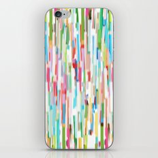 vertical brush strokes  iPhone & iPod Skin
