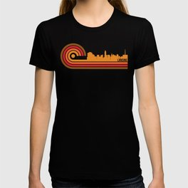 Retro Style Lansing Michigan Skyline T-shirt