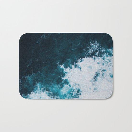 Wild ocean waves II Bath Mat