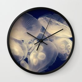 Moon Jelly Cluster Wall Clock