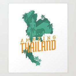 Amazin Thailand Art Print