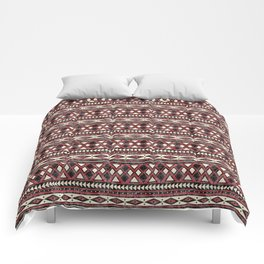 Black Red and Ivory African Pattern Comforters