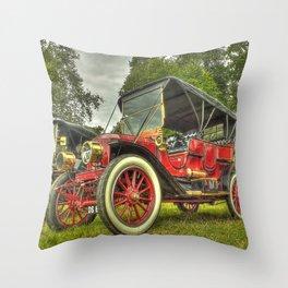 Stanley Steam Car Throw Pillow
