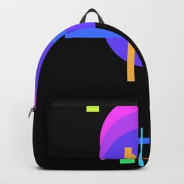 shapes on black -22- Backpack