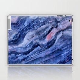 Blue watercolor marble Laptop & iPad Skin