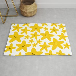 Kawaii Starfish Party Rug