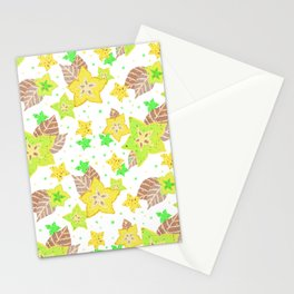 Starry Starfruit- Tropical Yellow Stationery Cards