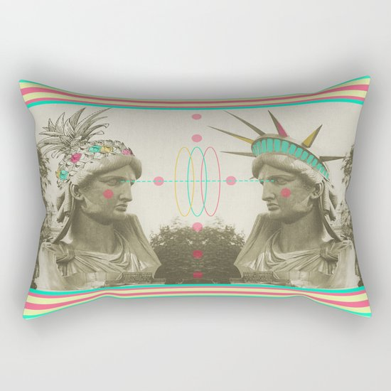 Pineapple architecture 3 : statue of liberty Rectangular Pillow