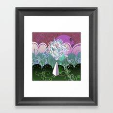 Flower Stone landscape, night Framed Art Print