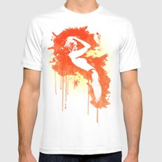 Catrin2 White MEDIUM Mens Fitted Tee