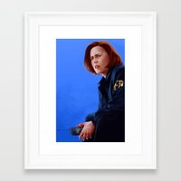 dana scully Framed Art Prints featuring Dana Scully B.S, M.D by Ofools