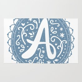 script monogram letter a Rug