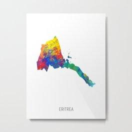 Eritrea Watercolor Map Metal Print
