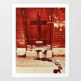 Bloody Cross Door Art Print