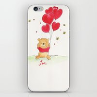 winnie the pooh iPhone & iPod Skins featuring Winnie the Pooh Love by SoulKidZ
