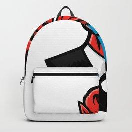 Devil American Businessman Mascot Backpack