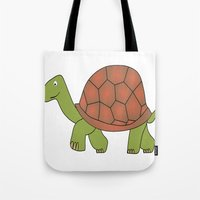tortoise Tote Bags featuring tortoise by siloto
