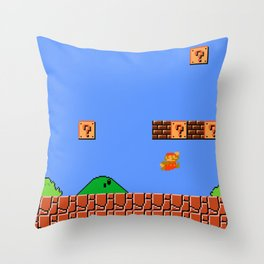 Dr. Mario? No...Doctor Who? Throw Pillow