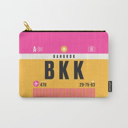Luggage Tag A - BKK Bangkok Thailand Carry-All Pouch