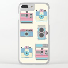 Vintage Cameras Clear iPhone Case