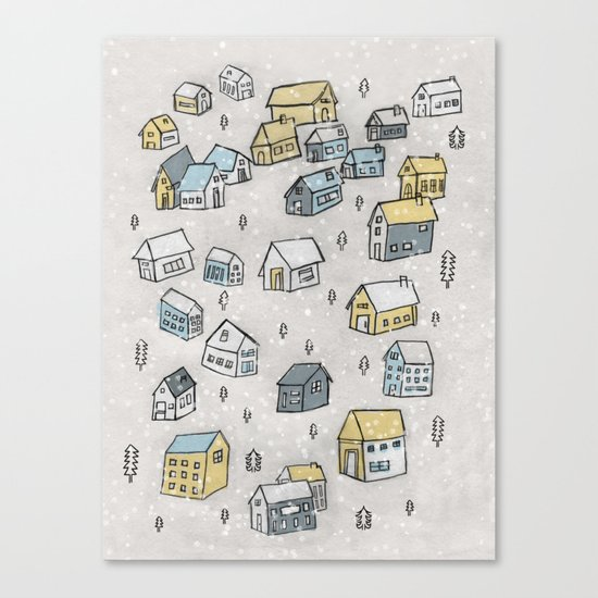 First day of snow Canvas Print