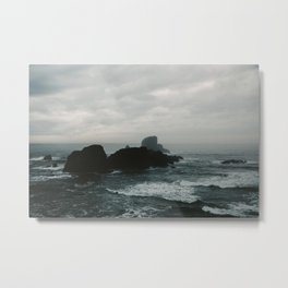 Crashing Waves on Cannon Beach Oregon Metal Print