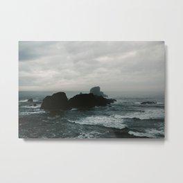 Crashing Waves on Cannon Beach Oregon Metal Print