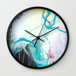 Ice Wind - Square Abstract Expressionism Wall Clock