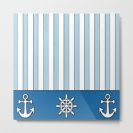 Nautical Stripes Metal Print