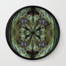 Reflection In A Creek # 2 Wall Clock