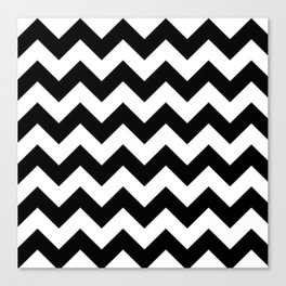 BLACK AND WHITE CHEVRON PATTERN Canvas Print