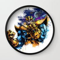 thanos Wall Clocks featuring Thanos by Vincent Vernacatola