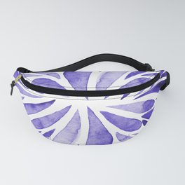 Symmetrical drops - electric blue Fanny Pack