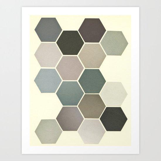 Shades of Grey Art Print