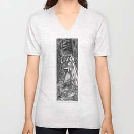 Silent Warrior by Tierra Jackson Unisex V-Neck