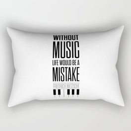 Lab No. 4 - Friedrich Nietzsche Quote life music typography poster Rectangular Pillow