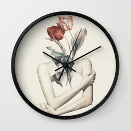 Inner beauty-collage Wall Clock