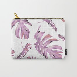 Monstera Pattern Pink #society6 #buyart Carry-All Pouch