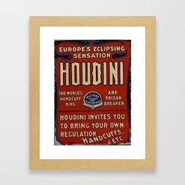 Poster Harry Houdini Framed Art Print